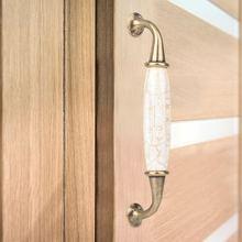 Vintage Style Ceramic Door Handles Cabinet Cupboard Drawer Knobs Pull luxury Door Handles Door Knob deurklink цена 2017