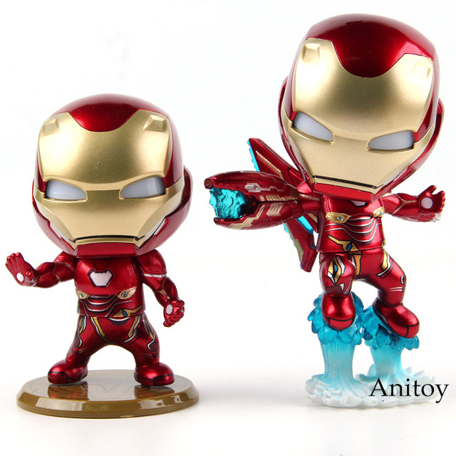 Iron Man Mark L Battling Version LED Lighting PVC Action Figure Collectible Model Toy 2 Styles