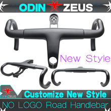цена на OdinZeus 2019 Style Aero Integrated Road Bicycle Handlebar T800 UD Carbon Bike Bent bar 380/400/420/440mm*80/90/100/110/120mm