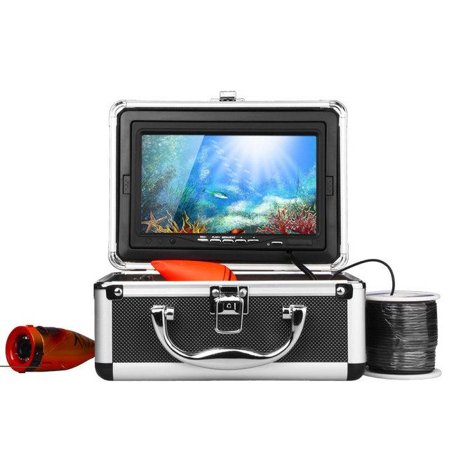 """HD 1000TVL Profissional Underwater Camera Pesca Fish Finder 7 """"Monitor Da Câmera de Vídeo AntiSunshine Infravermelho IR LED luzes"""