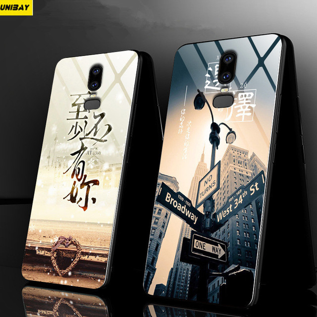 official photos 64210 108f6 US $15.99 |Oneplus 6 Case Cover Hard Shock Proof For one plus 6T back Cover  9h anti explode 1+6 oneplus 6 tempered glass back Cover-in Fitted Cases ...