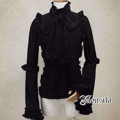 Popular Black Ruffled Blouse-Buy Cheap Black Ruffled Blouse lots ...