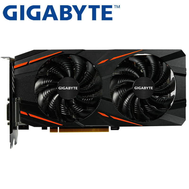 Used Gigabyte Radeon RX580 8GB RX 580 GDDR5 PCI Express x16 3.0 video gaming graphics card external graphics card for desktop