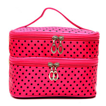 Makeup Organizer Women Portable Cosmetic Organizer Makeup Case Pouch Zip Boxes Make up Storage Travel Capacity Wash Pouch