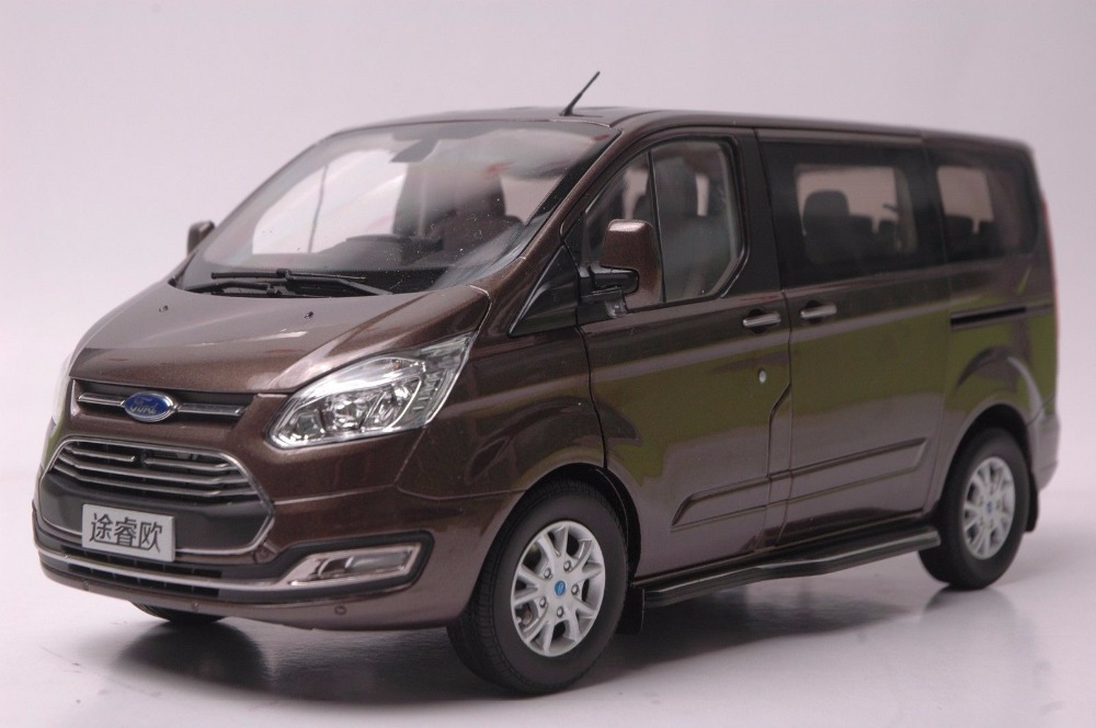 1:18 Diecast Model for Ford Tourneo Brown MPV Alloy Toy Car Miniature Collection Gift 1 18 diecast model for volkswagen vw all new touran l 2016 brown mpv alloy toy car miniature collection gifts