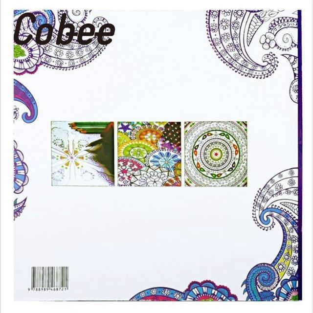Cobee 24 Seiten Englisch Kinder Erwachsene Anti Stress Malbuch ...