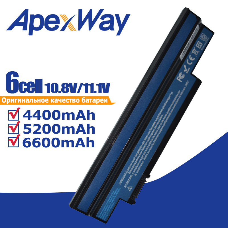 Laptop Battery for Acer Aspire one 253H 532h 532G AO532h for eMachines 350 UM09H31 UM09H41 UM09G31 UM09H75 eM350 NAV51 NAV50-in Laptop Batteries from Computer & Office on