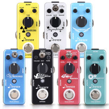 Donner Mini Guitar Effect Pedals Distortion Overdrive Chorus Fuzz Flanger Delay Giant Metal Effects Pedal Guitar Accessories New portable guitar effectors effect pedal synthesizer with 5 effects reverb chorus flanger overdrive wow wah built in rechargeable