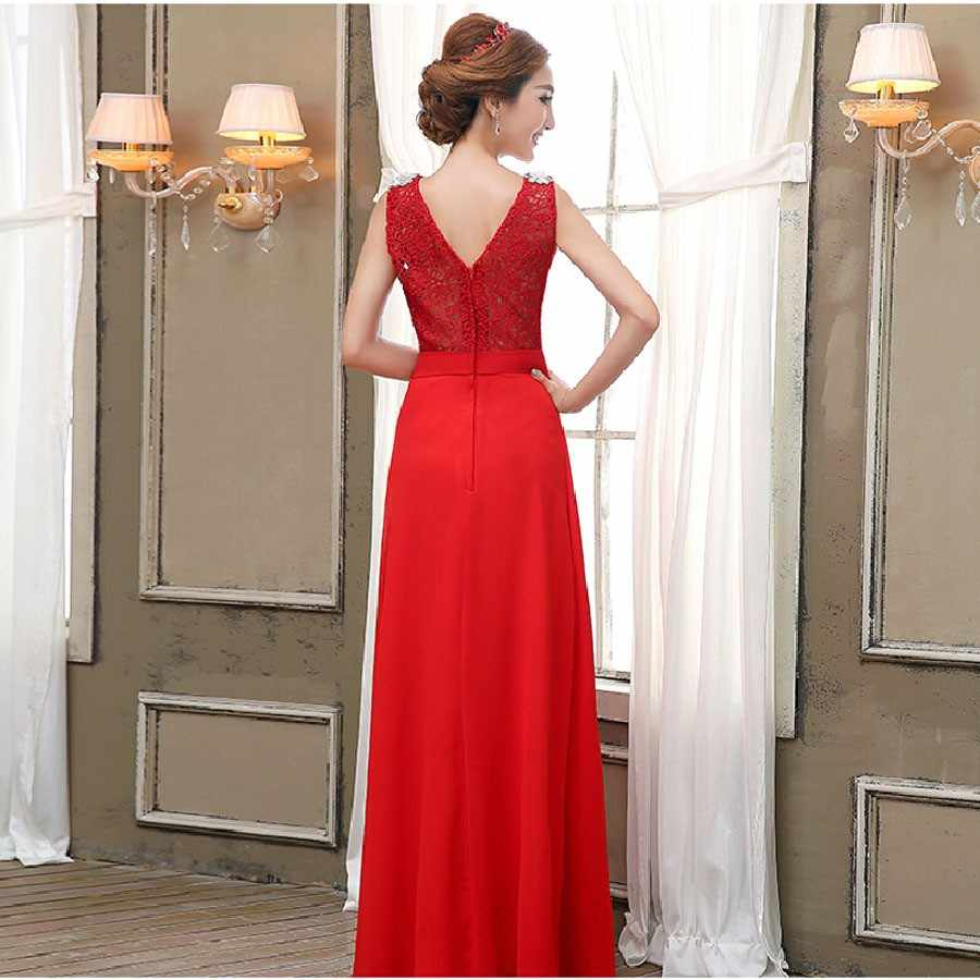 309f9ef0137 ... Mother Of The Bride Dress Summer style New 2018 fashion red formal long  design elegant logon ...