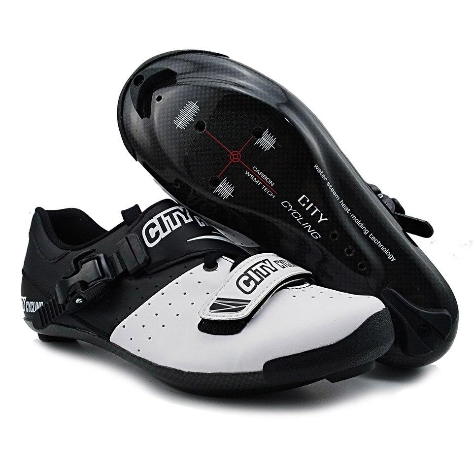 a440552e9 Comprar Bicicleta ciclismo zapatos de bicicleta de carretera de  Heatmoldable de fibra de carbono transpirable botas de las mujeres de los  hombres de ...