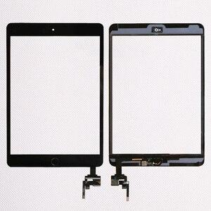Image 2 - 10 teile/los Gute Qualität Für iPad mini 1/2 mini 3 Touch Screen Panel Mit Home Button + IC Stecker