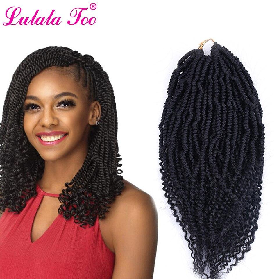 12 polegada nubian twists crochê tranças ombre sintético trança bomba kinky paixão torção extensão do cabelo