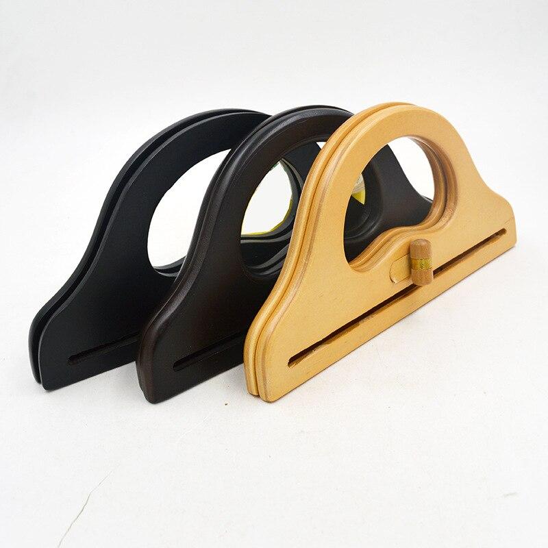 2017 Two Colors Wooden Bag Frame Handle Strap Handbag Accessories Wood Bag Handle China Factory Bamboo Plastic Bag Frame