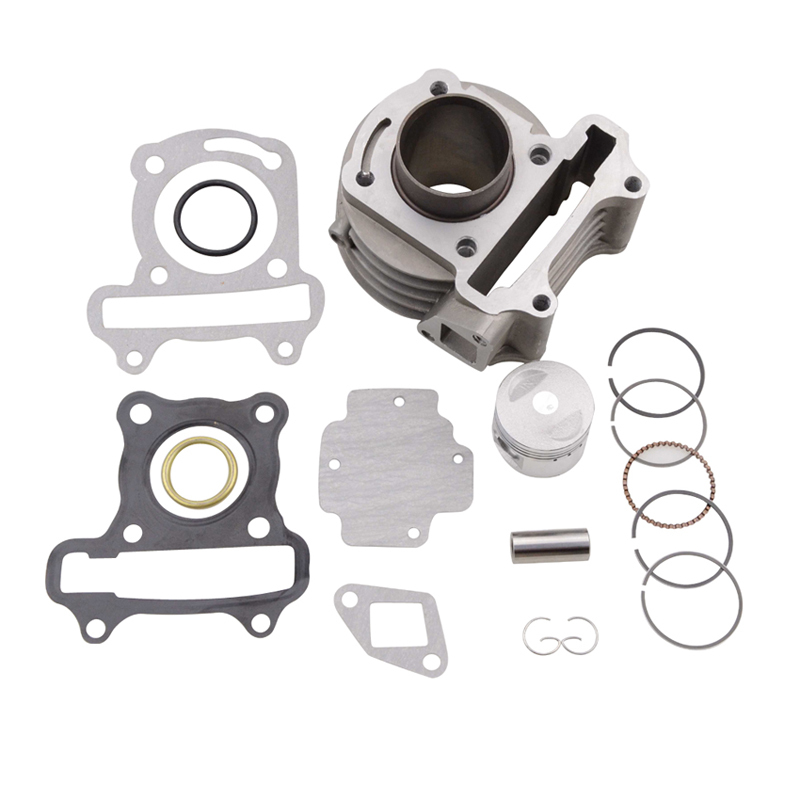 GOOFIT 39mm Bore Cylinder Rebult Kit for GY6 50cc Moped Scooters Motorcycle cylinder K074-061 motorcycle cylinder kit for mbk av10 booster big bore 39mm cylinder kit with piston 13mm pin