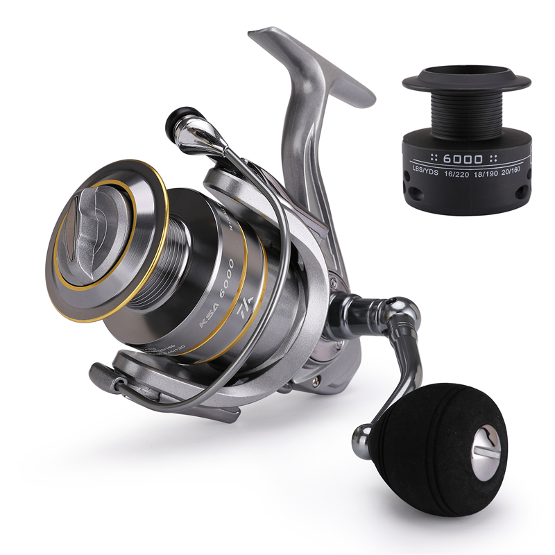 High-Quality Fishing Reel With Non-Slip Bottom And Metal Spool For Saltwater 1