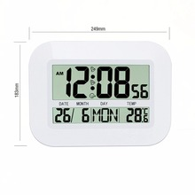 Household Use Large LCD Display Digital Calendar Simple Living-room Silent Hanging Clock Desktop Alarm Clock