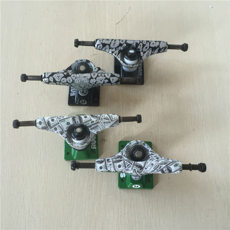 2Pcs Quality 4.75LOW Rocus Skate board Truck for 7 7.5inch skateboard decks designed with USD AND MOKEY in best price