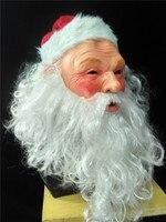 Christmas Santa Claus and Deer Latex Mask Adult Full Head Costume