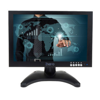 Eyoyo HD 10 IPS Touch Screen 1280*800 VGA HDMI AV LCD Monitor for POS KIOSK PC Gaming EYOYO