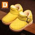 Nuevo 2015 de La Moda de Invierno Botas de Nieve Del Tobillo de Charol Niñas Botas Botas de Algodón acolchado Niños Botas Otoño Caliente de la Felpa Niños zapatos