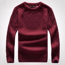 Spring collar men sweater set of head thickening knitting line unlined upper garment of men's clothing of cultivate  morality