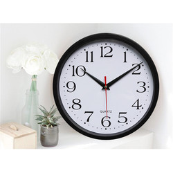 Brief Classic Silent Sweep Wall Digital Clock Black and White Color Modern Graceful Bell Desk Creative  Clock Home Decor