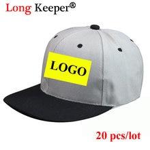 0d4215b1332 Long Keeper Men Women Snapback Caps Custom LOGO Hip Hop Hats Baseball Caps  LOGO Printing Embroidery For Adult Casual Peaked Hat