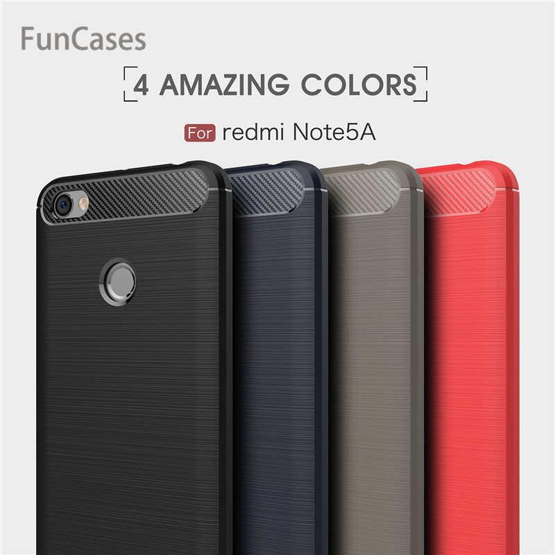 "Untuk Xiaomi Redmi Note 5A Penutup Case 3 GB/32 GB 4 GB/64 GB 5.5 ""dengan sidik Jari Silikon untuk Redmi Note 5A Prime Redmi Y1"