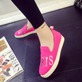 2016 New Women Loafers Casual Flats Round Toe Black Pink Loafer Shoes Autumn Comfort Women Shoes Size35-40
