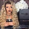 #613 Блондинка Парик Шнурка Девы Светлые Волосы Парика Бразильский Full Lace блондинка Человеческих Волос Парики #613 Блондинка Человеческих Волос Full Lace Wig