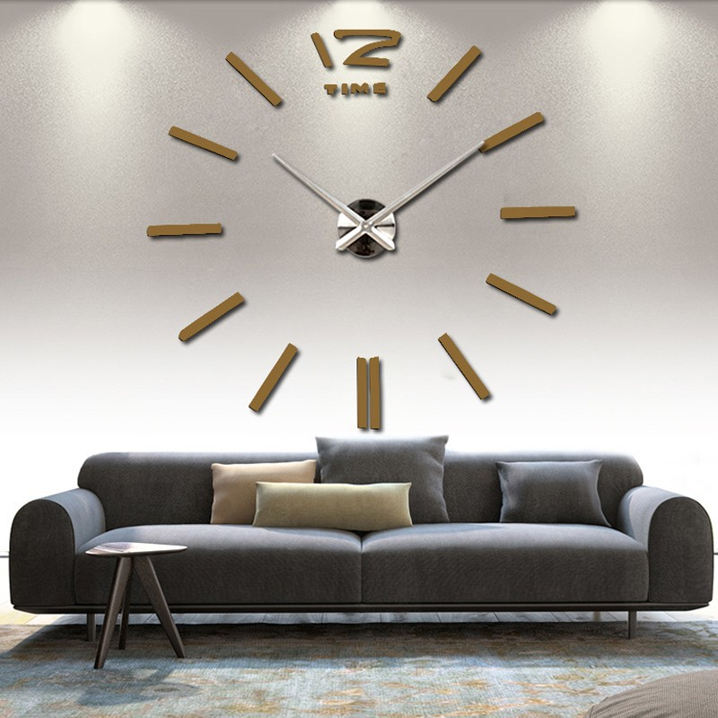 3d real big wall clock rushed mirror sticker diy living room decor free shipping fashion watches 16 new arrival Quartz clocks 10