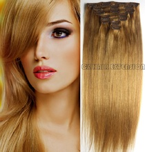 16″-32″  Brazilian Virgin Remy Hair Clips In Human Hair Extensions Full head 7pcs Set 70g 80g 100g 120g 140g #16