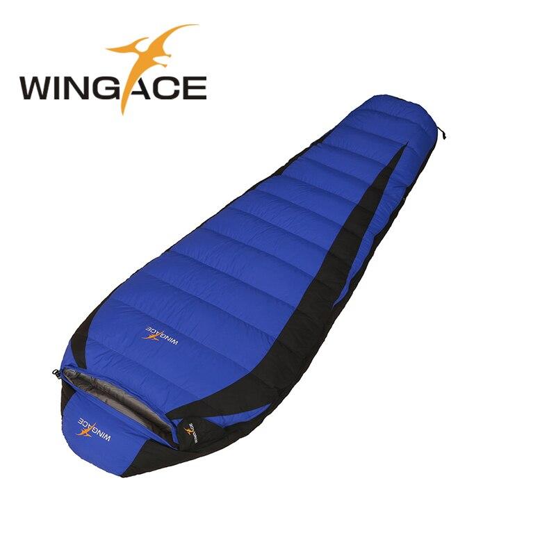 WINGACE Fill 400G 800G 1200G 1500G Down Outdoor Camping Travel Hiking Sleeping Bag Portable Mummy Goose Down Sleeping Bag Adult
