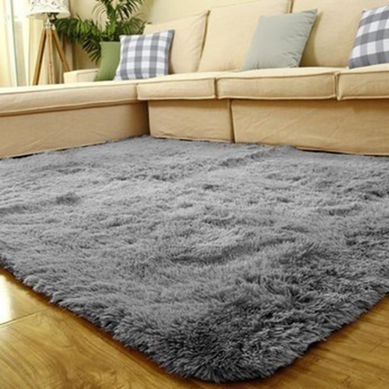 1PCS 80x120cm Floor Carpets Anti Skid Shaggy Rug Sofa Bedroom Living Room Soft Water Absorption Mat Yoga Mats Home Decor