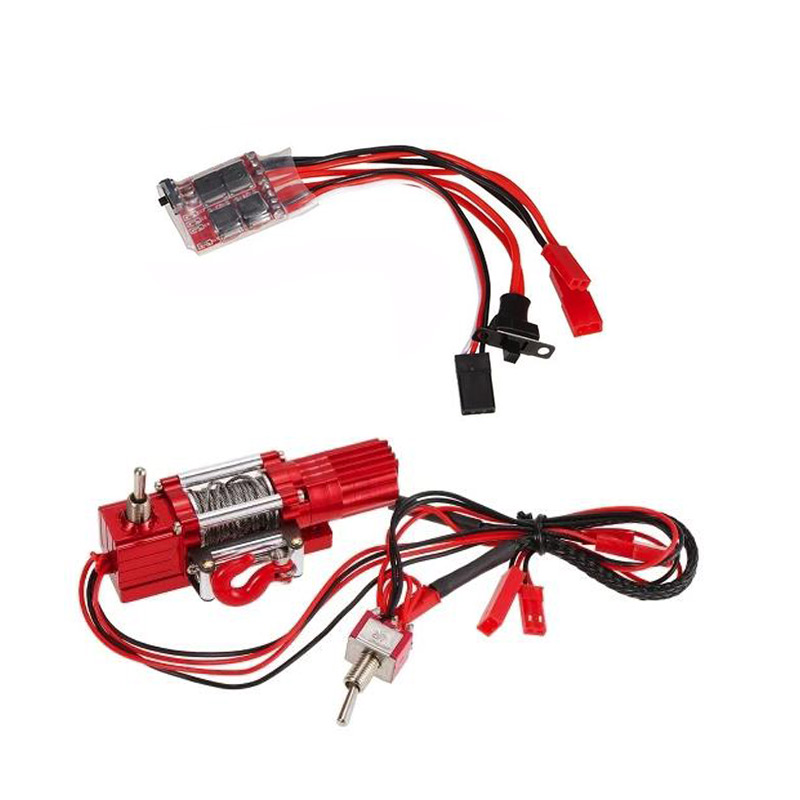 1/10 RC camion Double interrupteur treuil w/30A ESC pour Traxxas HSP Redcat HPI TAMIYA CC01 Axial SCX10 RC4WD D90 RC roche chenille