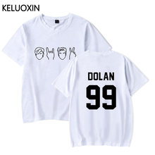 163435204 KELUOXIN Summer Cotton Short Sleeve T-shirt Dolan Twin Clothes Men Women  Print High Quality Fashion Tee Top Camisetas Hombre