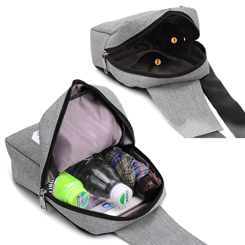 Fashion Crossbody Sling Kotid Canvas rinnus Pack Meeste kotid Väike - Käekotid - Foto 6
