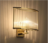 Classic fashion design Gold Glass Rod+Metals Wall Lamp crystal lamp Decoration Lighting for Home staircase corridor bedside ligh