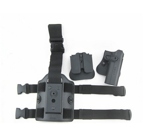 Tactical Drop Leg Holster for 1911 IMI Rotary Holster+magazine carrier+leg panel Free Shipping image