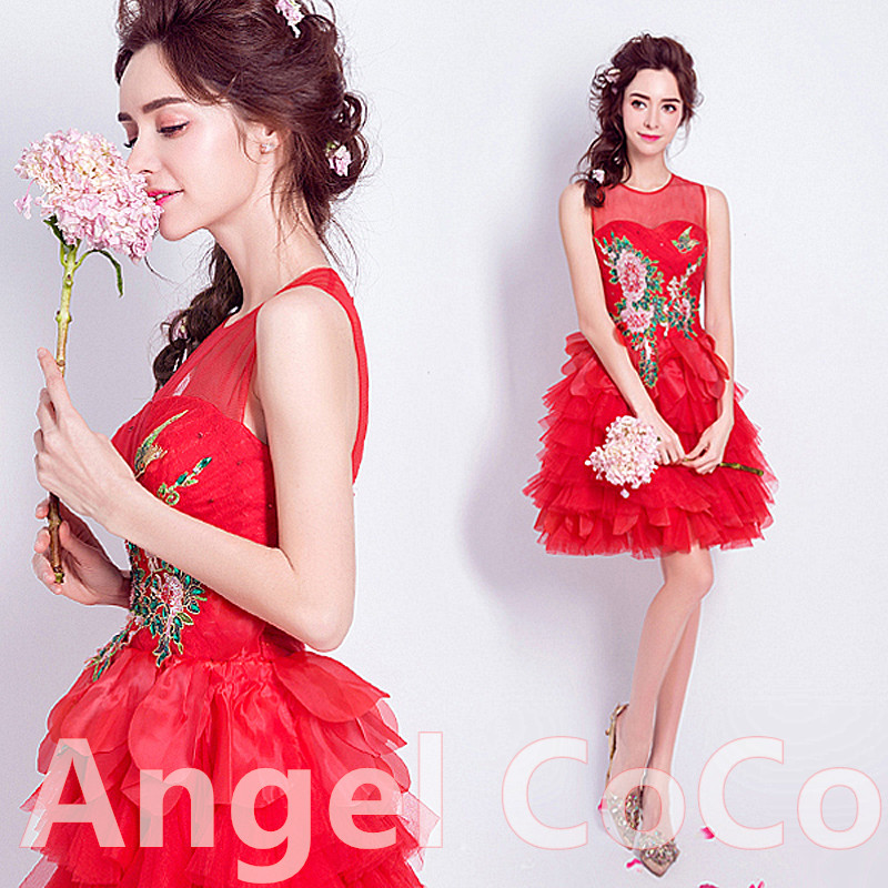 Rojo Sin Mangas de La Vendimia Vestidos Lindos de Coctel Elegante ...