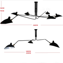 Modern 6 Arm Serge Mouille For Our Ceiling Lights Duckbilled For Bedroom Light Home lights Black Lampshade illuminazione New