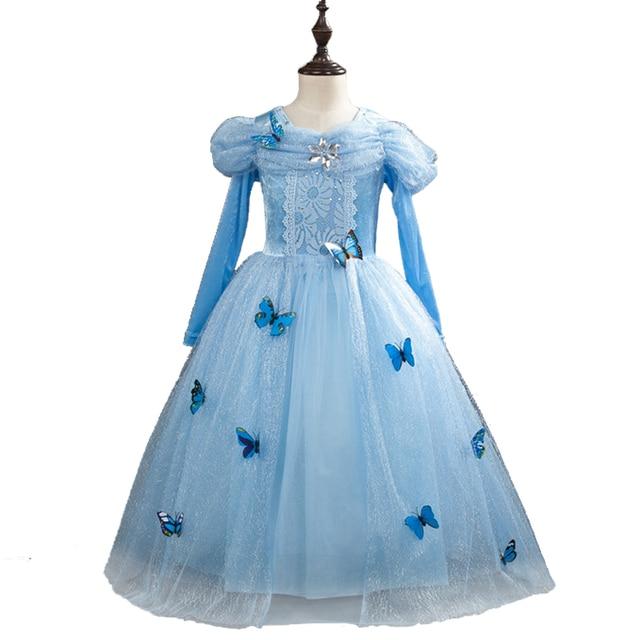 Fadas Meninas Sophia Princesa Partido do Vestido Extravagante de Halloween Cosplay para Meninas Cinderela Vestido Elsa Vestido Tutu Borboleta 3D