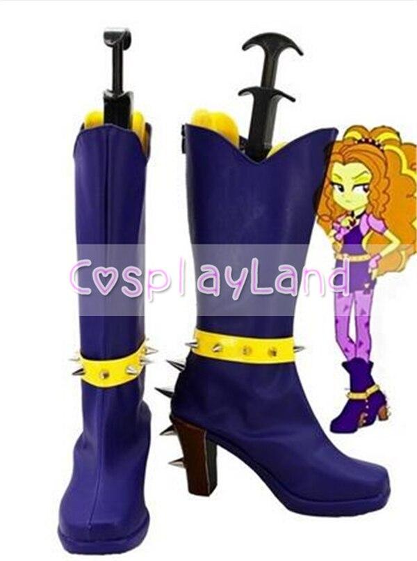 Mon petit poney arc-en-ciel roches Adagio éblouit Cosplay bottes chaussures Anime fête Cosplay Show bottes sur mesure pour les femmes adultes chaussures