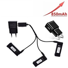 Upgraded 850mAH 3.7V Battery and 3-in-1 battery Charger for E58 JY019 S168 RC Quadcopter Spare