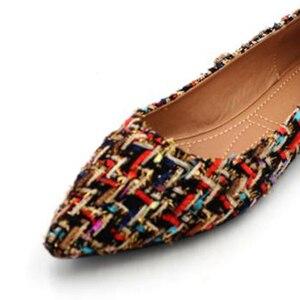 Image 3 - BEYARNE zapatos de marca de moda para mujer, zapatillas femeninas de tacón plano colorido con punta estrecha, náuticos, 2019