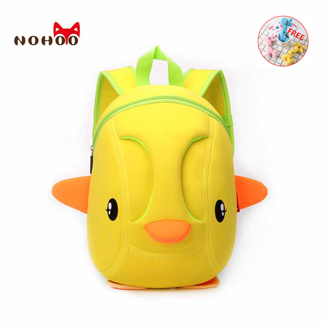 NOHOO 3D kids Bag for girls boys Children school bags cute waterproof  Backpacks school backpack mochila