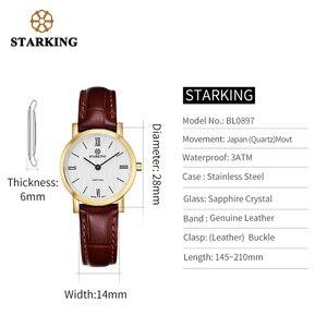 Image 4 - Starking relógio feminino slim de 6mm, relógio de aço inoxidável de quartzo, moderno, vintage