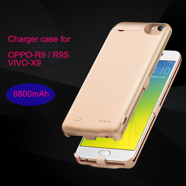 charger case for OPPO R9/R9S VIVO X9 Portable Thin Backshell wireless power case External Battery power bank Christmas gifts