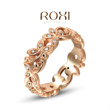 ROXI exquisite rose-golden fresh Butterfly rings,factory price,fashion jewelry,high quality,newest arrival,Christmas gift