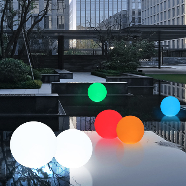 D25CM 16 Colour LED Light Ball IP68 Waterproof Outdoor Indoor ...